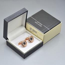2019 regalos de lujo únicos 4 colores de lujo mb camisa de los hombres gemelos con caja joyería de diseño único Copper Gemelos enlace de regalo rebajas regalos de lujo únicos