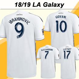 18 19 Los Angeles Galaxy IBRAHIMOVIC Soccer Jersey GIOVANI ALESSANDRINI  Home White Football Shirts 2018 LA Galaxy LETGET Jerseys Men Uniform 4bee039e0