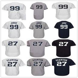 Wholesale New Ladies - Mens Womens Youth 27 Giancarlo Stanton 99 Aaron Judge 24 Gary Sanchez Gray White Navy Blue Home Road Lady Kids New York Baseball Jerseys