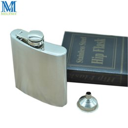 Wholesale 6oz Flask Funnel - Man's Hip Flask With Funnel Stainless Steel Pocket Liquor Bole 6Oz Portable Drinking Flask For New Year Gift