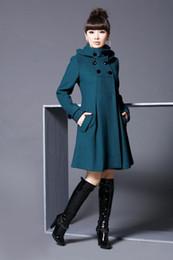 Wholesale Rich Coats - Rich womens coats winter 2016 Autunm Winter Women Trench coats Korean Style Women Dress with Hat fashion Coat Female DFBWC004