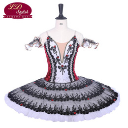 zebra dress shoes Coupons - New Arrival Black Red Professional Ballet Tutu Costumes Red Shoes Performance Ballet Apperal Women Dancewear Girls Dress