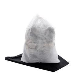 Argentina Zapato no tejido con cordón Zapato de almacenamiento de viaje Zapato a prueba de polvo Estuche para la bolsa de polvo Bolsa blanca negra Bolsa para el polvo a prueba de polvo fedex libre supplier fedex shoes Suministro