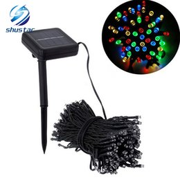 Wholesale Garden Solar Light Animal - Solar Lamps LED String Lights 50 100 200 LEDS Fairy Holiday Christmas Party Garlands Solar Garden Lawn Outdoor Lights Waterproof