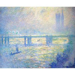 Pinturas a óleo on-line-Famosas pinturas a óleo de Claude Monet reprodução pintados à mão Charing Cross Bridge 03 arte da lona