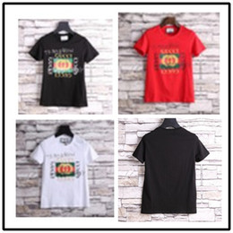 Wholesale High Collar T Shirts - Hot Sale Fashion High Quality Designer Men's T-Shirts Summer New Personality Print O-collar Short Sleeve Tops Tee Shirt
