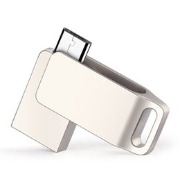 Wholesale Good Usb Drive - Usb Memory Stick Micro USB Flash Drives OTG Custom LOGO Rotating USB 2.0 Stick Memory 8GB 16GB 32GB Storages Good Gift