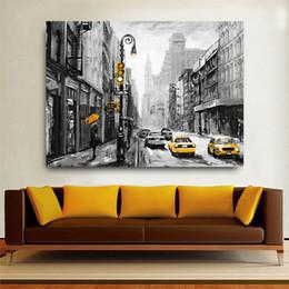 2019 pinturas de paisajes de la ciudad 1 Unids American New York City Paisaje Moderno Decoración Del Hogar Carteles de Pared Para la Sala HD Lienzo Pinturas Al Óleo Sin Marco pinturas de paisajes de la ciudad baratos