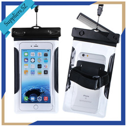"""Wholesale Touchscreen Case - Waterproof Case Underwater Pouch Dry Bag Swimming Bag Transparent PVC Waterproof Sleeve with Comb for 6"""" iPhone Cell Phone Touchscreen"""
