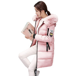 Argentina Mujeres Winter Parka 2018 Femenino de piel sintética con capucha Abrigos Niñas Rosa Outwear Parka Ropa Señoras coreanas chaquetas delgadas S18101203 cheap women fur pink jacket korean Suministro