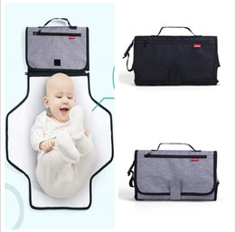 Wholesale baby change bag - Newest Land mommy diaper bags strecth folded bags Muiti-functional changing mat nappy handbags baby Healthy EVA stroller storage bags MPB41