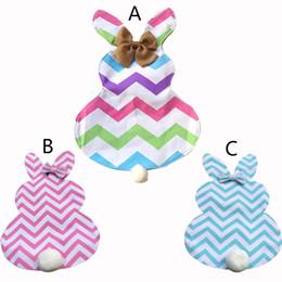 4 estilos 2018 Diy Chevron Easter Bunny Flags Canvas Rabbit Garden Flag con Yute Bow Tie Easter Decoración para el hogar Lindo Bunny Shape Garden Flag desde fabricantes