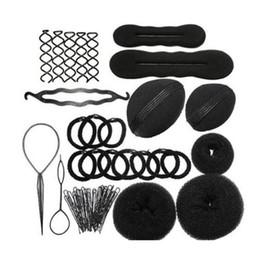 Pince à cheveux rembourré en Ligne-Utile Magic Hair Styling Clip Maker Outil Kit Set Pads Mousse Éponge Épingles À Cheveux Bun Donut Outil