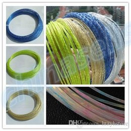 tennis rackets wholesale Promo Codes - Wholesale- 1PCS 12M Rough 1.35MM titanium tennis string line crystal Power tennis rackets strings training racquet string line