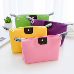 Wholesale bulk cosmetics - New Buty & Products Cosmetic Bags Cases Dropshipping Cheapest bags NylonT dumplings bulk waterproof cosmetic bag travel wash storage package