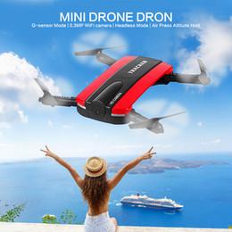 Nueva llegada Control de teléfono JXD523 Rastreador Mini Rc Selfie Drone con Wifi FPV 720P HD Cámara Altitud Modo HoldHeadless OTH770 desde fabricantes