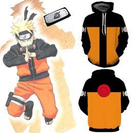 Taille Asiatique Japon Anime Uzumaki Naruto Halloween Hokage Cosplay Costume Unisexe Costume De Baseball Manteau Veste Veste À Capuche Bandeau ? partir de fabricateur