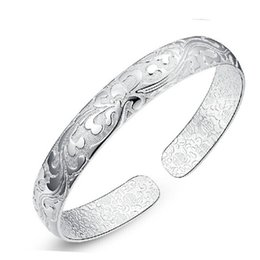 Wholesale Chinese Silver Bangles - High Quality 925 Sterling Silver Bracelet Chinese Style Bangles For Women Bohemian Fashion Jewelry Adjustable