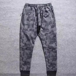Wholesale fleece camo pants - NKOE TECH FLEECE CAMO pants, men's foot trousers, air layer cotton camouflage sports pantsO
