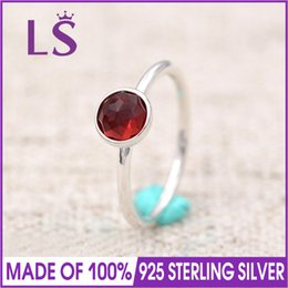 Wholesale n 925 - LS 100% 925 Sterling Silver July August September Droplet Birthstone Ring For Women DIY Fashion Rings.Christmas Wedding Rings N