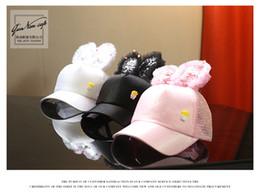 Canada 2018 été enfants casquette de baseball grand lapin oreille fille anti-UV chapeau de soleil Hip Hop sports de plein air réglable dessin animé Sequin Cap Offre