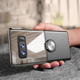 Wholesale Note Two - Luxury Mirror & Two-color clear back case For samsung galaxy note 8 back cover case fit with Magnetic car holder