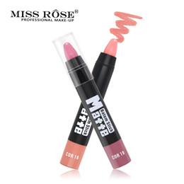 wearing dark lipstick Promo Codes - Miss Rose Brand Matte Lipstick Waterproof Long Lasting Makeup Lips Lipstick Easy to wear Moisturizer Nutritious