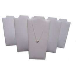 Canada Présentoir à bijoux blanc similicuir collier bijoux stand pendentif pliable support chevalet Offre