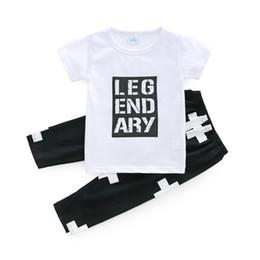 tshirts garçons en bas âge Promotion Garçons Vêtements de bébé T-shirts Lettres coton tout-petits pantalons d'été ins à manches courtes pour bébés T-shirts Costumes Vêtements Boutique Tenues B11
