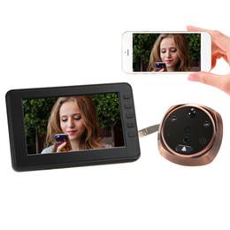 moniteur vidéo wifi Promotion WiFi Surveillance à distance Intelligent Peephole Doorbell 4.3inch LCD Affichage Vidéo Enregistrement PIR Détection de mouvement App Surveillance