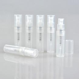 Wholesale 2ml perfume spray bottles - 50PCS lot Empty 2ml 3ML 4ML 5ML mini plastic spray perfume bottle, small promotion sample perfume atomizer