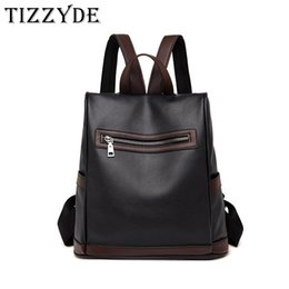 c596228f0948 Backpack bag ladies tide 2018 new bag Korean version of the wild fashion casual  soft leather street trend anti-theft zy51