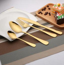 cuchara de metal para café Rebajas Cubiertos de oro Tenedor Cuchillo s Servicio de mesa Café Mezcla de cuchara Sopa Scoop Vajilla Cubiertos Cocina Vajilla OOA4804