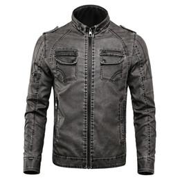 c553dc08590d9 2018 Winter Motorcycle PU Leather Jacket Men Thick Velvet Casual Parkas  Fleece Coats Biker Faux Leather Jacket Men 4XL