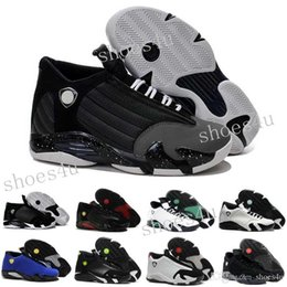 Wholesale Fusion Shoes - 2017 Wholesale 14 XIV man basketball shoes Fusion Purple Black Red Playoffs 14 sneakers sports shoes Free shipping Eur 41-47