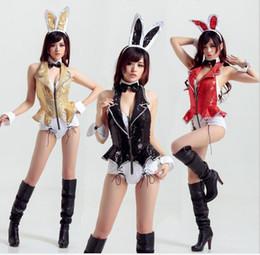 11e906f766 Trajes de natal do dia das bruxas mulheres Xmas sexy lingerie Dovetail pole  dance bunny fantasias Rabbit girl eroticas uniforme boate