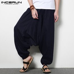 cb90d5fb9c3 INCERUN Plus Size 5XL Men s Pants Cotton Hip-hop Loose Joggers Wide Leg Harem  Pants Drop Crotch Nepal Trousers Male Clothes 2018