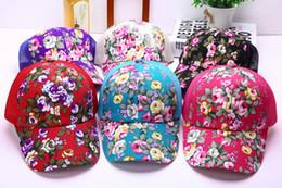 2019 chapéus frescos Nova Chegada Malha Bonés de Beisebol Impressão Flor  Snapback Tampas Do Osso Floral edb831cce58