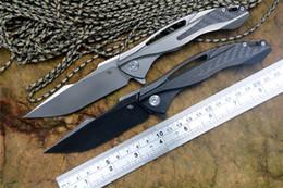 cf coltello Sconti CH3519 coltello pieghevole Flipper originale S35VN Cuscinetto a sfere con lama TC4 Manico in titanio con CF Coltelli da tasca tattici di sopravvivenza in pelle Utensili EDC