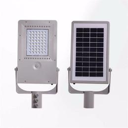 2019 lumière publique Capteur humain de puissance solaire LED Light-Control 48led Waterproof Super Bright LED lumière solaire de jardin éclairage public de rue projecteurs spot lumière publique pas cher