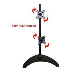 стоять на экранах Скидка ML1012 13-24 «Верхний и нижний двухэкранный ЖК-монитор держателя Full Rotation Desktop Stand Mount