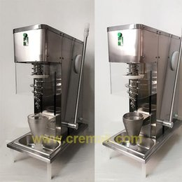 Wholesale Cream Maker Machine - 2017 hot sell commercial table top auto swirl fruit ice cream blending machine with cone cup free shipping