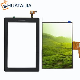 Wholesale Ipad Lcd Touch Screen - Wholesale-For Lenovo TAB 3 Essential 710F Tab3 TB3-710F TAB3-710F Touch Screen Digitizer LCD display Sensor Replacement Parts Black