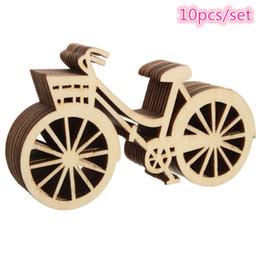 Fahrradhäuser online-Vintage Holz Fahrrad Ornament 10 Teile / satz DIY Handgemachte Bike Crafts Party Geburtstag Hochzeit Weihnachtsschmuck für Zuhause Navidad LZ1418