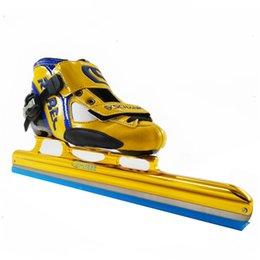 хоккейные коньки Скидка Коньки ролика ботинок катания на коньках следа REBEC длинние черные белые для ботинок льда shooes хоккея