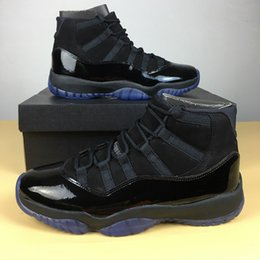 Wholesale Winter Sports Caps - 2018 cap and gown XI 11s PROM NIGHT 11 BLACKOUT 378037-005 Men women Basketball Shoes Athletic Sneakers Mens 11s Sport Trainer shoes 36-47