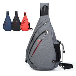 Wholesale Soft Production - High-capacity Chest Bag Male High-end Fabric Shoulder Triangle Package Korean Drip Bag To Increase The Chest OEM OEM Production