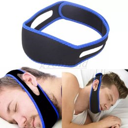 Wholesale Chin Support - Anti Snore Chin Strap Stop Snoring Snore Belt Sleep Apnea Chin Support Straps for Woman Man Health care Sleeping Aid Tools GLO