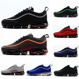 outlet store 0a60d 81035 2019 nike air max airmax 97 invaincu 97 Ultra OG Plus Chaussures de course pour  homme Run Run 97s Sport Jogging Marche Blue Air Blanc Hommes Baskets ...