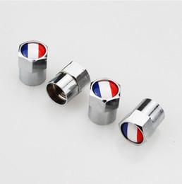 Bandeira francesa Mini Válvulas de Válvula de Pneu De Metal Tampas de Tampão de Poeira de Pneus MT Emblema Do Carro Emblemas Emblemas Tampa de válvula do automóvel tampa da válvula de mini válvula de bico de gás de Fornecedores de tampa da tampa da tecla preto